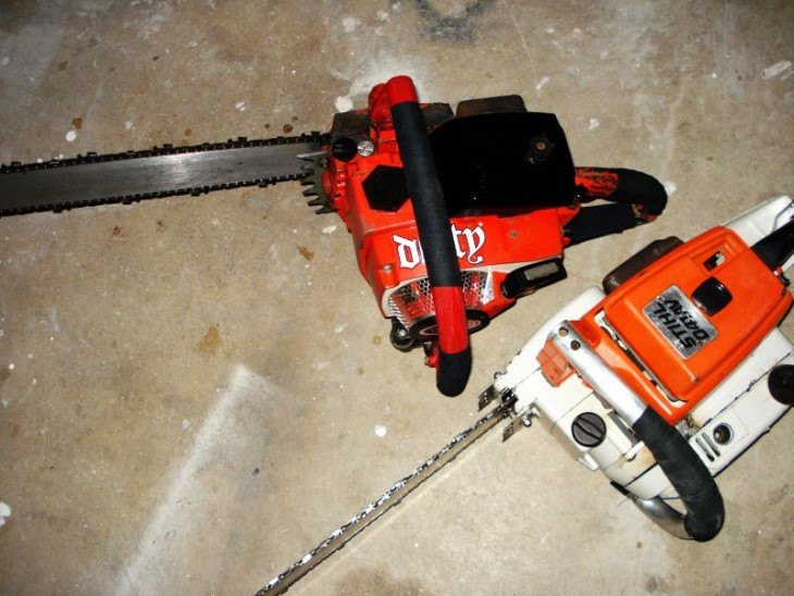 chainsaw and ice fishing 1