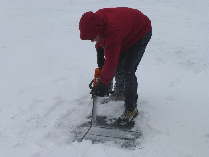 chainsaw and ice fishing 2