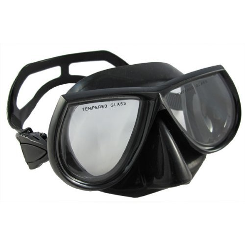 best spearfishing mask black silicone
